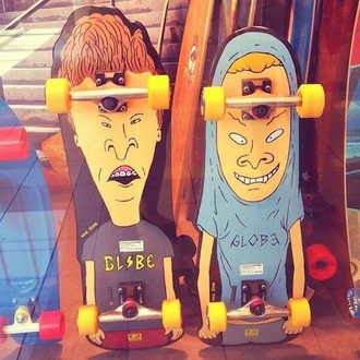 home accessory beavis and butt-head skateboard two cool black
