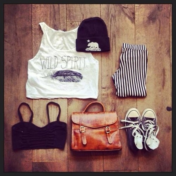 tank top free feathet wear with shorts tank top pants bag shorts shoes hat beanie