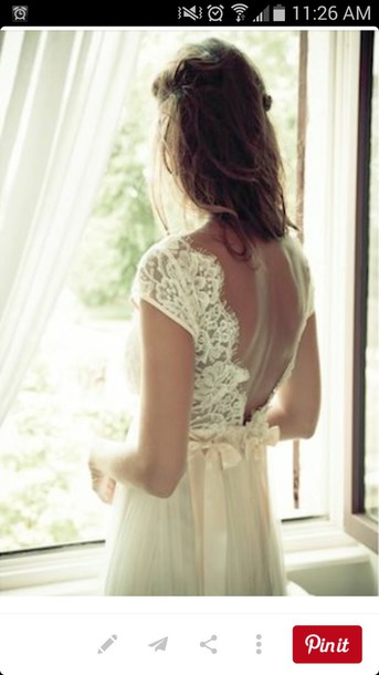 dress lace dress lace back backless dress