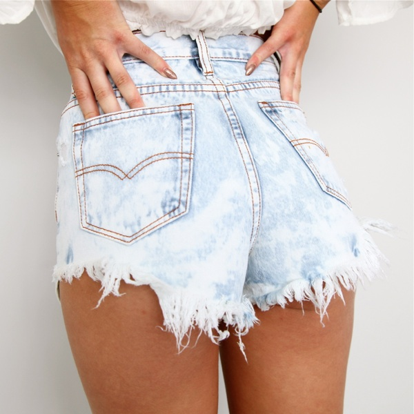Festival High Waisted Ripped Acid Washed Denim CUT Offs Shorts 6 8 10 12 | eBay