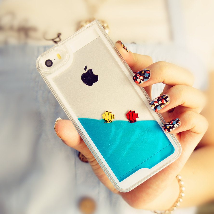 Cute blue iphone 5 case