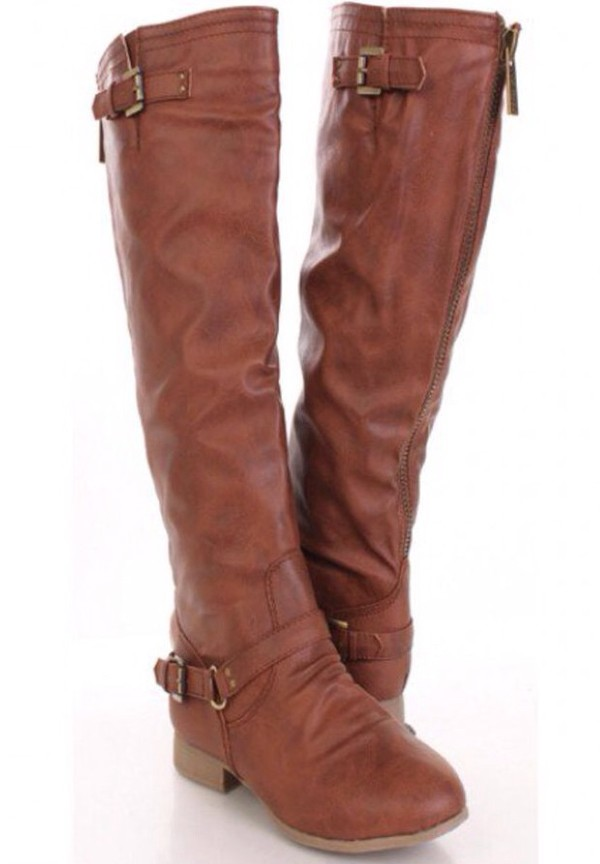 shoes knee high riding boots brown riding boots