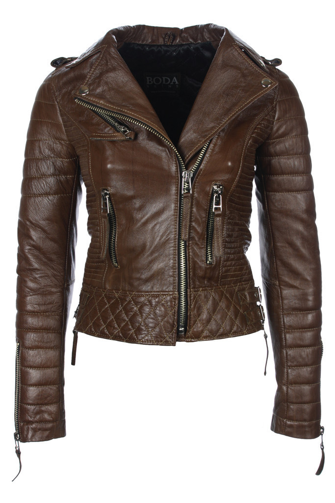 Kay Michaels Quilted Biker (Creased Brown) – BODA SKINS - Leather to Love Forever