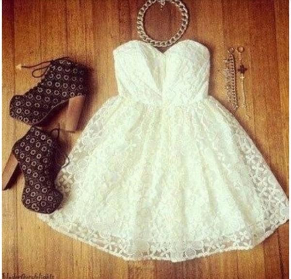 dress cute dress white summer