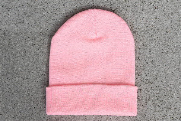 Solid Pink Beanie on Wanelo