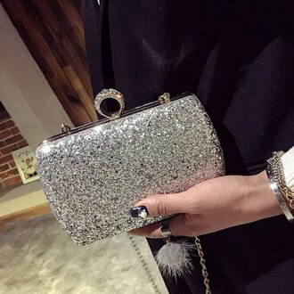bag fashion style glitter silver party rose wholesale