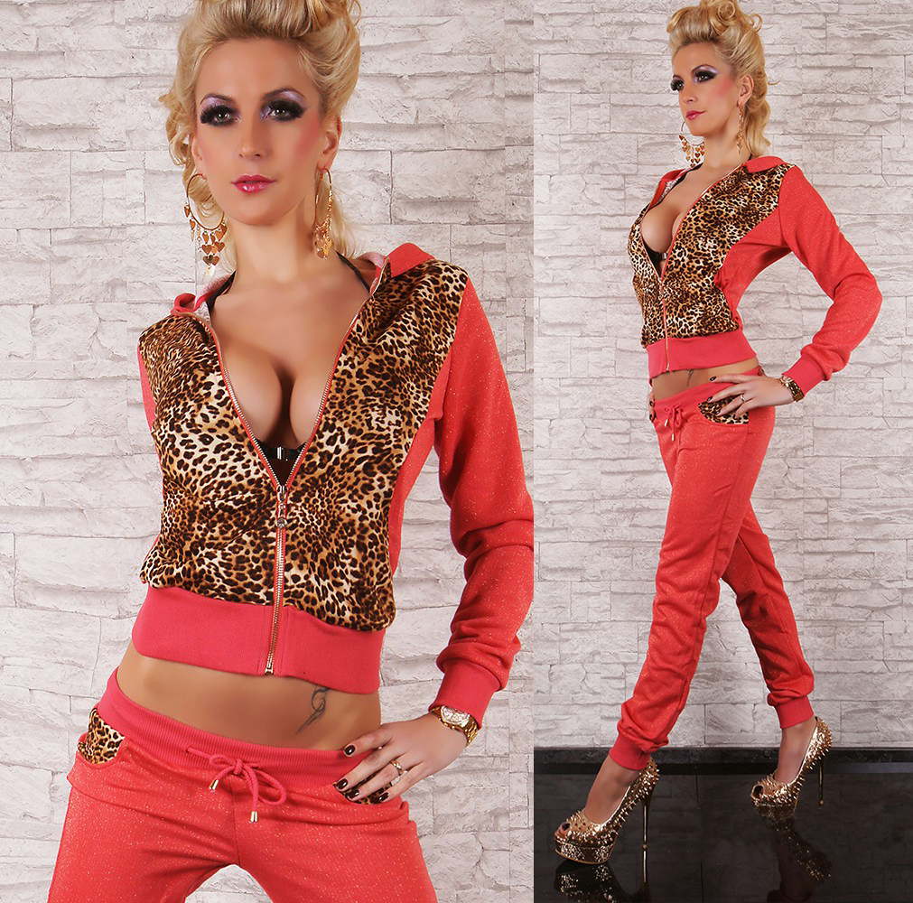 Hot Sexy Full Leo Tracksuit with Hood Jogging Suit by Redial Size 8 12 | eBay