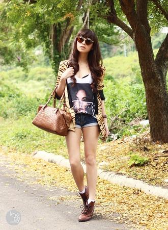 shoes jacket shorts tank top bag sunglasses kryzuy