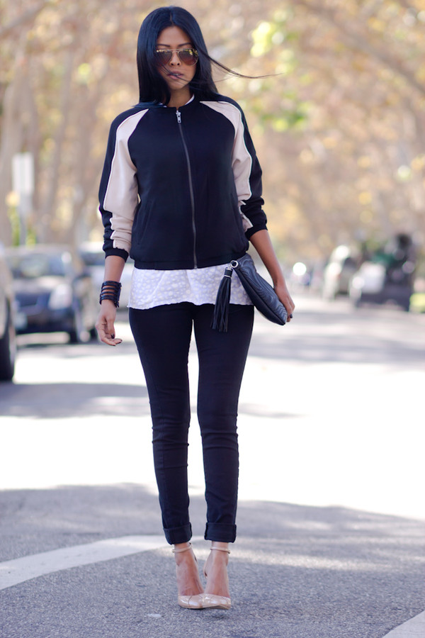 walk in wonderland t-shirt jacket jeans bag shoes jewels