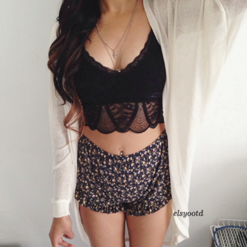 Fashdale   Black crotchet top   Online Store Powered by Storenvy