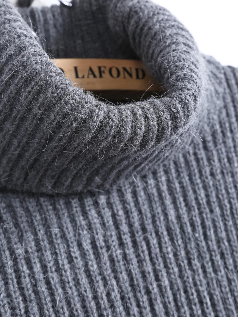 Grey High Neck Sleeveless Dipped Hem Sweater - Sheinside.com