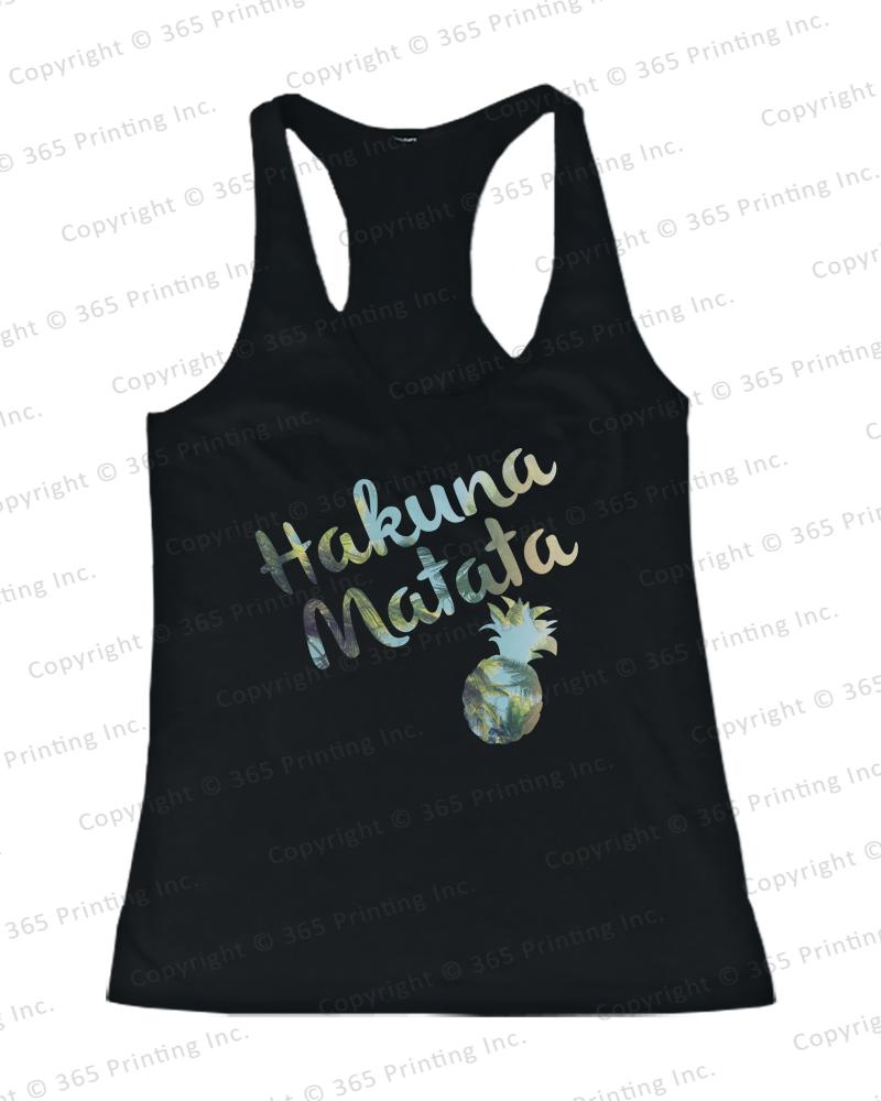Women's Beach Tank Tops Hakuna Matata Pineapple Blue | eBay