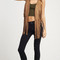 Cowgirl double layer suede fringe vest