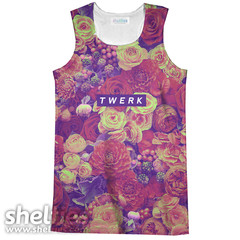 Twerkin' Roses Tank Top – Shelfies - Outrageous Sweaters