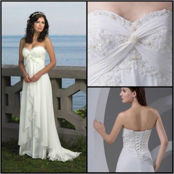 dress wedding dress chiffon wedding dress beach wedding dress