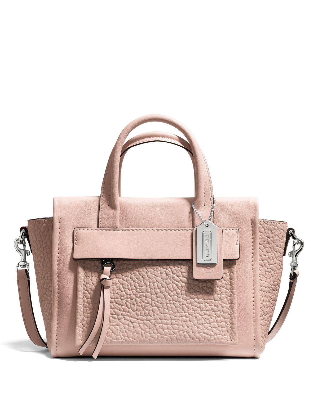 COACH Bleecker Mini Riley Crossbody Carryall in Leather | Bloomingdale's