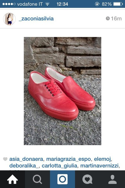 shoes red shoes vans