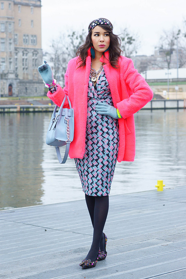 macademian girl coat dress shoes bag jewels