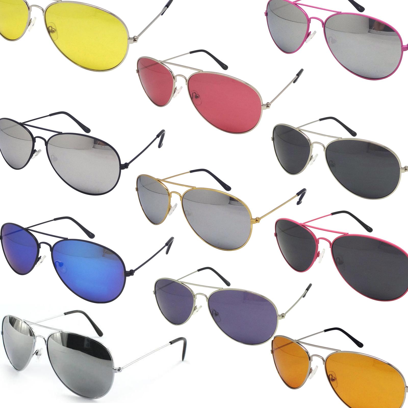 Aviator Sunglasses Fashion 80s Retro Style Designer Shades UV400 Lens Unisex | eBay