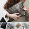 Nwt women sparkle sequin spangle clutch pouch evening bags wallet coin purse   ebay