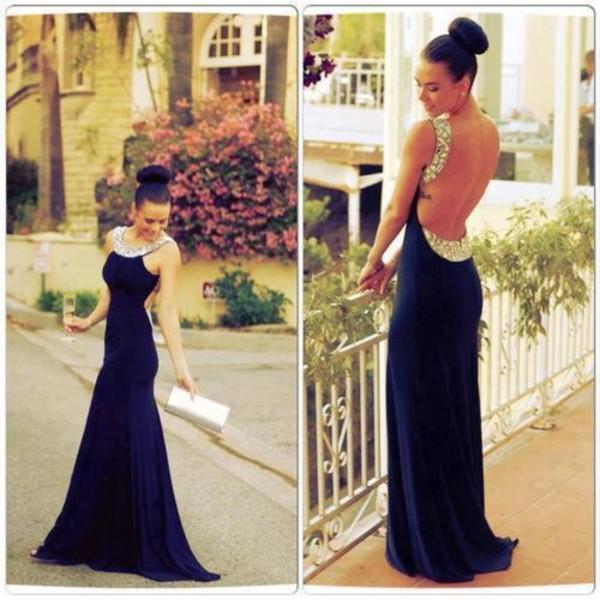 dress navy evening dress