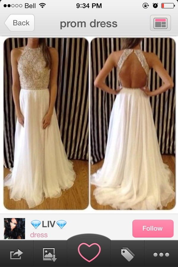 dress prom dress long prom dress formal dress prom dress halter dress off white prom dress sequin dress open back prom dress