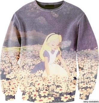 sweater disney walt disney disneyland jumper floral buy purchase wonderland snow white