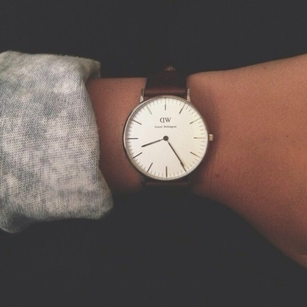 jewels watch brown leather