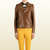 Gucci - brown leather biker jacket 356043XN4772760