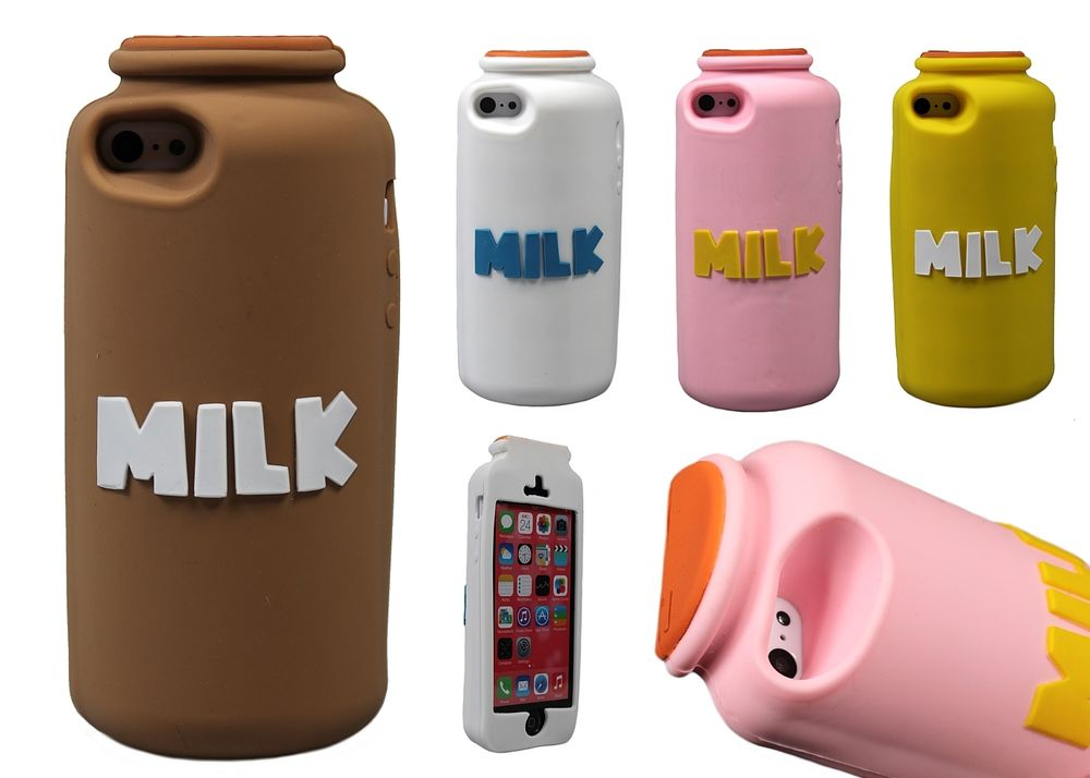 silicone iphone 5 case milk bottle soft silicone rubber 3d new cool cover 9317