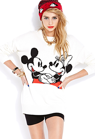 Smiling Mickey and Minnie Sweater | FOREVER21 - 2000065917