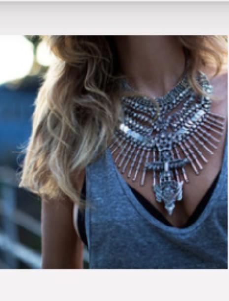 tank top necklace jewels jewelry