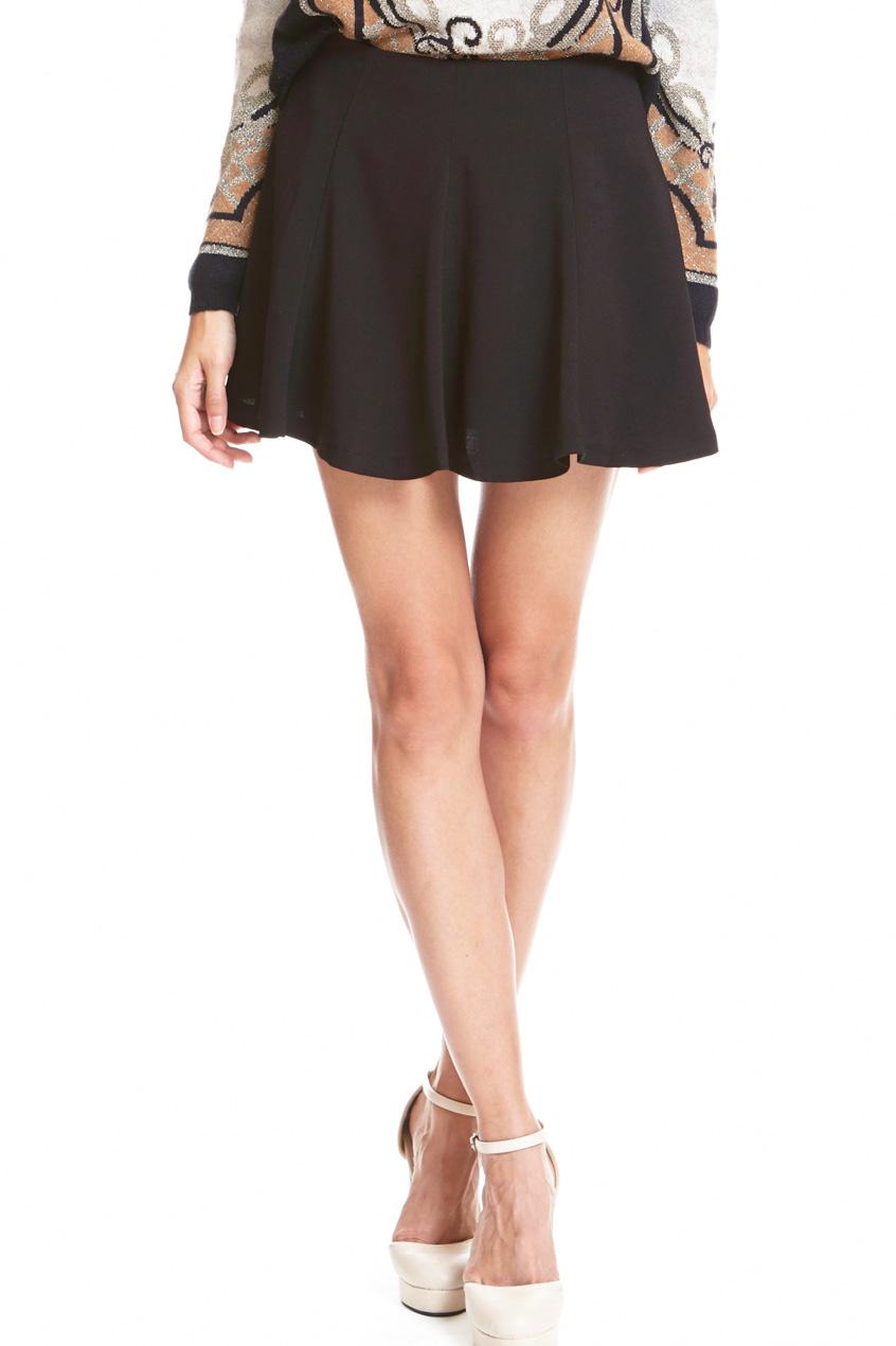 ROMWE   Retro Ruffle Black Skirt, The Latest Street Fashion