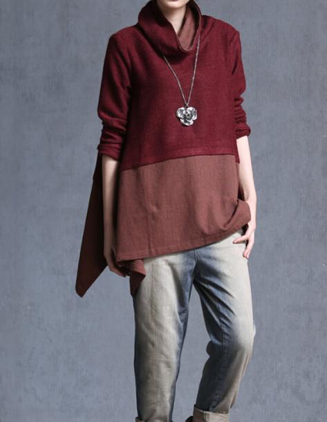 shirt wine red