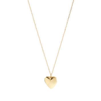 GIRLS' GOLD HEART LOCKET on Wanelo