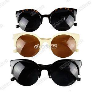 Fashion Retro Vintage Shades Oversized Womens Designer Cat Eye Sunglasses New   eBay