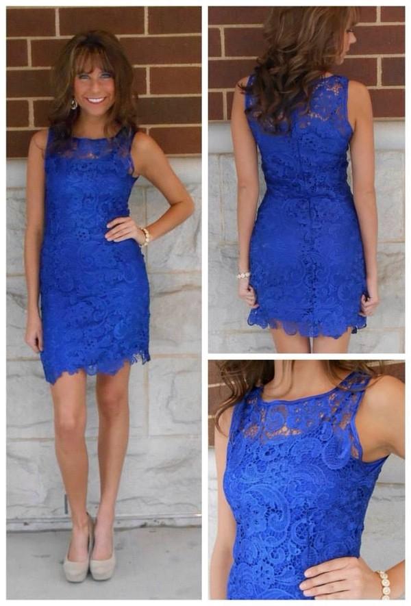 dress lace dress lace short dress cute dress blue dress