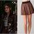 Pretty Little Liars: Season 2 Episode 23 Aria's Brown Leather Pleated Skirt | ShopYourTvShopYourTv