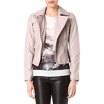 KAREN MILLEN - Signature leather biker jacket | Selfridges.com