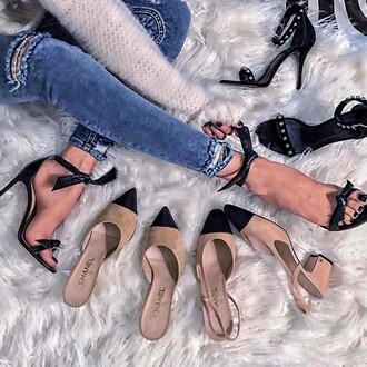 shoes heels high heels beige shoes beige black black heels black high heels lace heels evening outfits classy classy heels