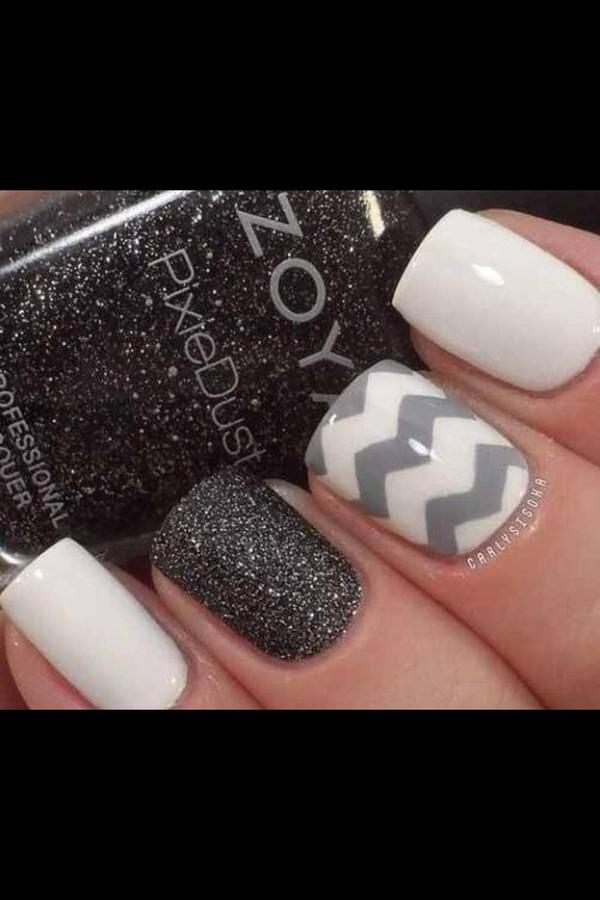 nail polish chevron chevron chevron black and white sparkle nails lavender