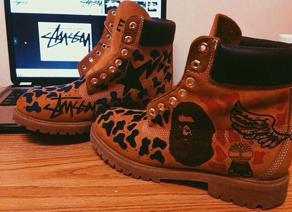 shoes custom timberlands