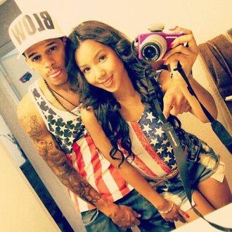 shirt swag dope girl guys love flag