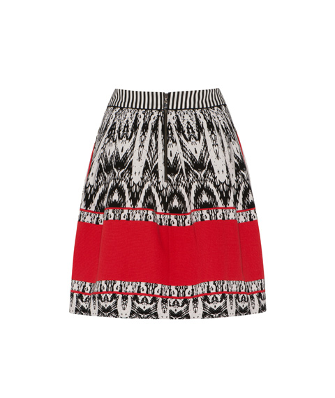 Graphic Print Ottoman Skirt by Cue