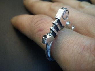 frantic jewelry sterling silver steampunk industrial menswear unisex mechanic jewels
