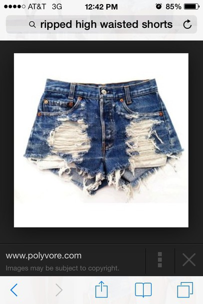 shorts ripped high waisted