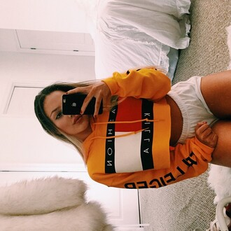 t-shirt sweater fashion killa cropped sweater any color nathalie paris top yellow hoodie fashion fashon killa hoodie cropped hoodie yellow sweatshirt cropped sweatershirt hot ogv ogvibes jacket tommy hilfiger