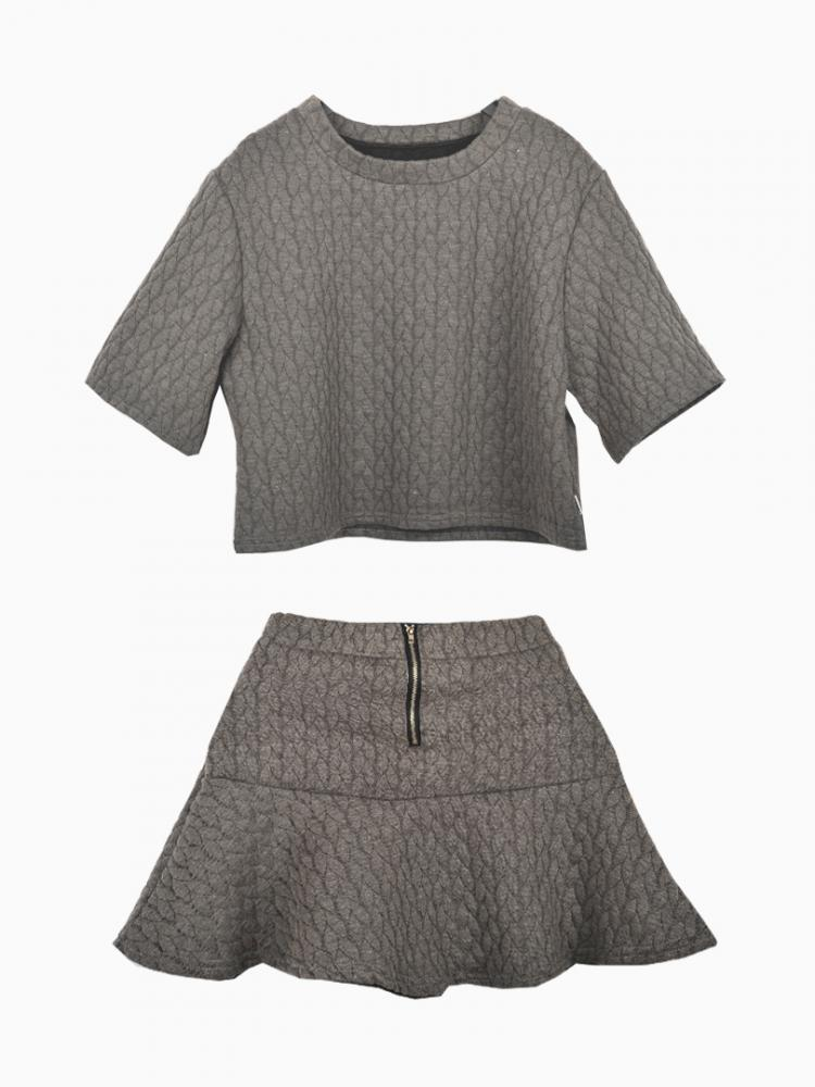Ruffled Loose Suit In Gray | Choies