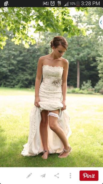 dress wedding dress hipster wedding lace dress cream