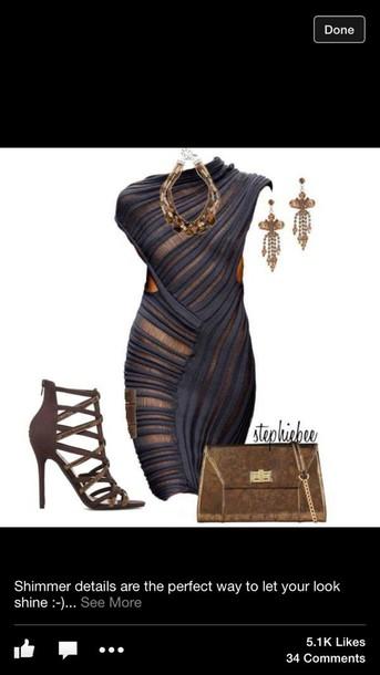 dress gold &  blue todd lynn dress